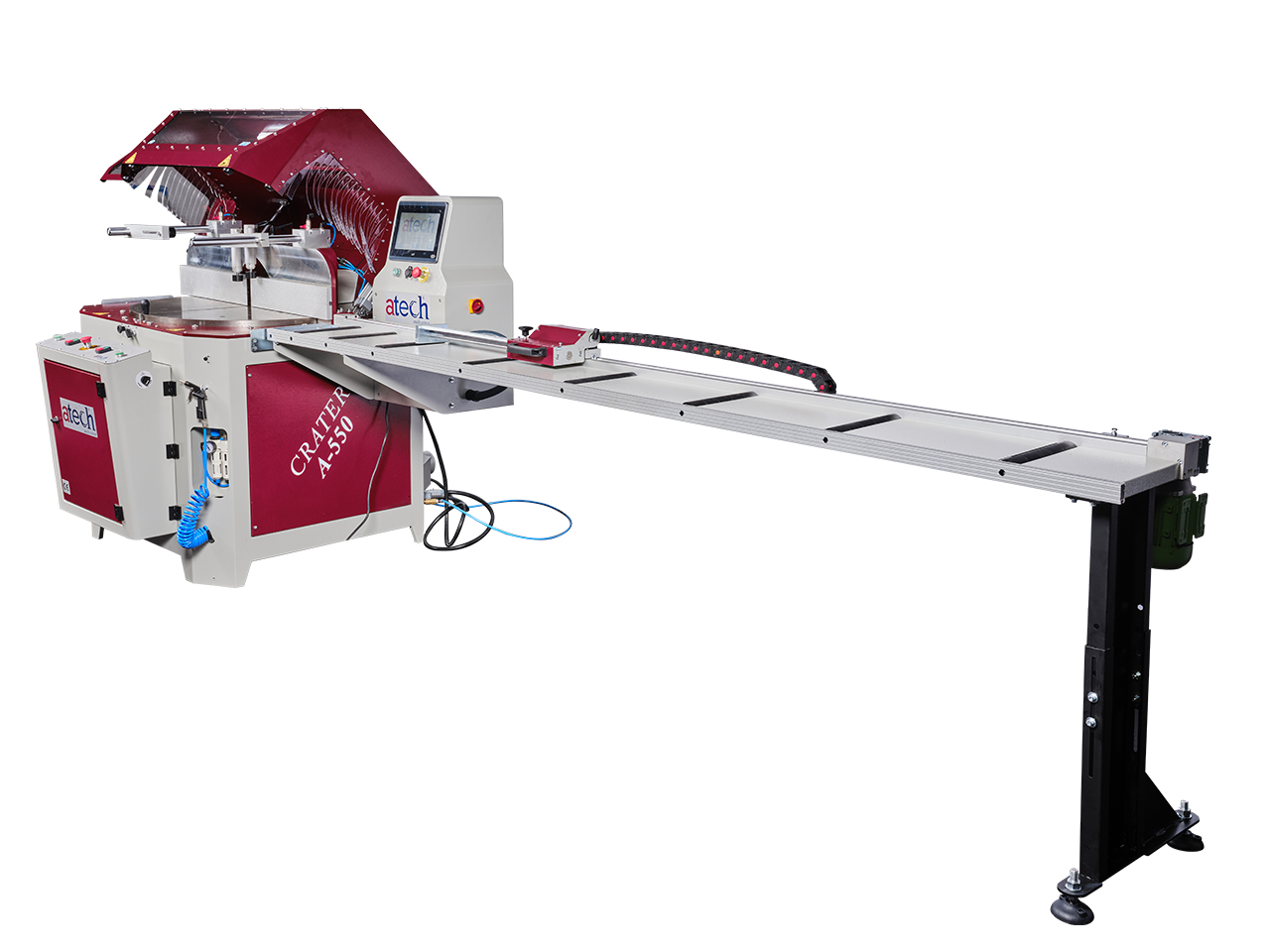 CRATER-06 A550 is a heavy duty 22 (550 mm) automatic aluminium profile upcut miter saw (10)