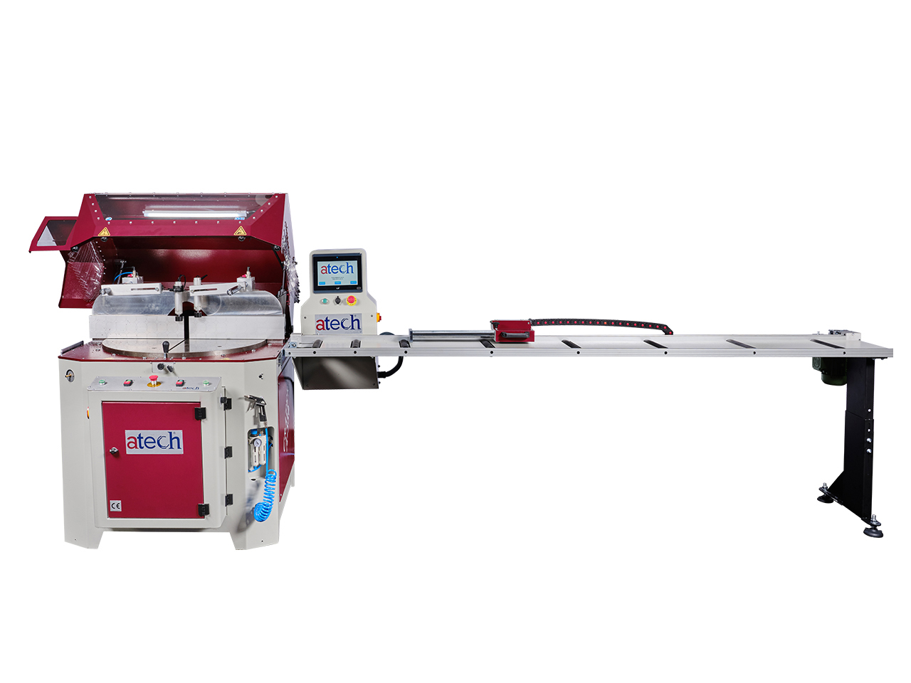 CRATER-06 A550 is a heavy duty 22 (550 mm) automatic aluminium profile upcut miter saw (13)