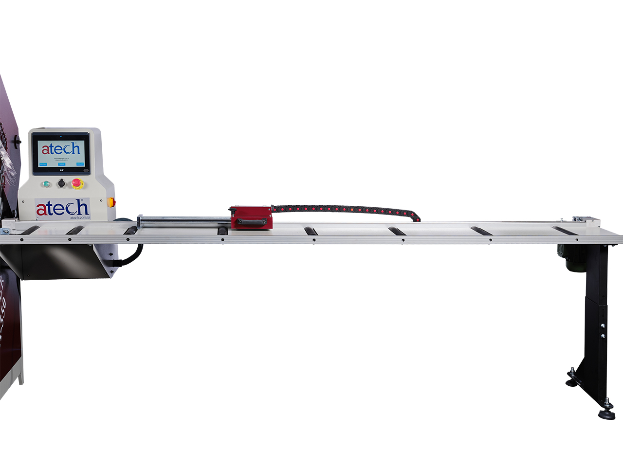 CRATER-06 A550 is a heavy duty 22 (550 mm) automatic aluminium profile upcut miter saw (16)