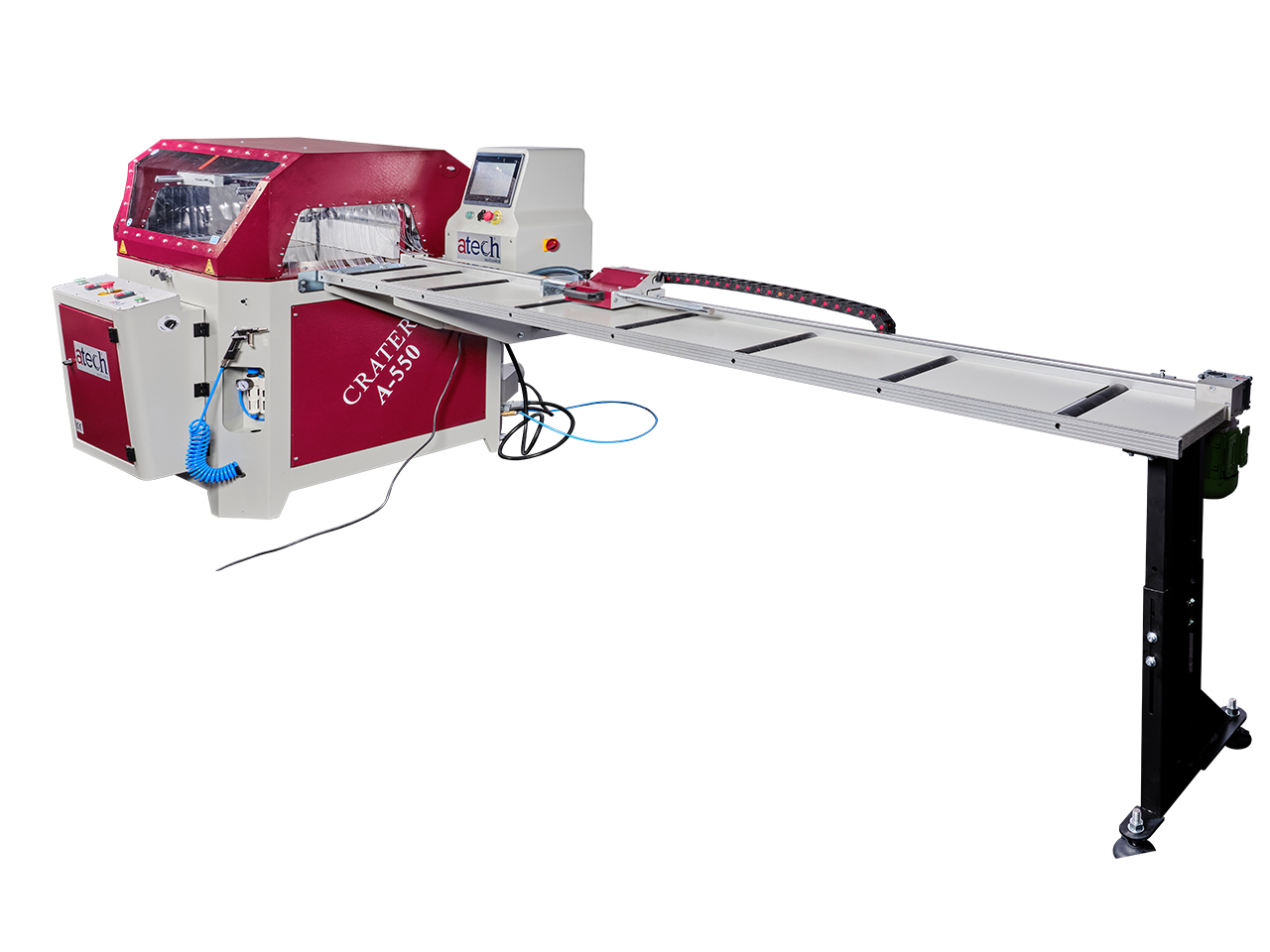 CRATER-06 A550 is a heavy duty 22 (550 mm) automatic aluminium profile upcut miter saw (9)