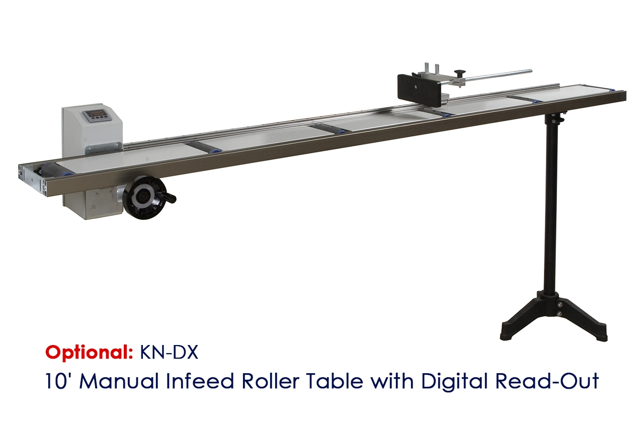 KDJX - 10' Manual Infeed Roller Table with Digital Read-Out - Conveyor