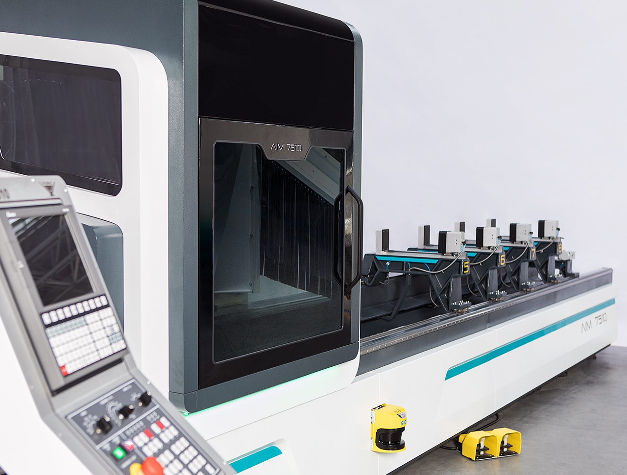aim 7510 5 axes aluminium profile processing center cnc machine 1