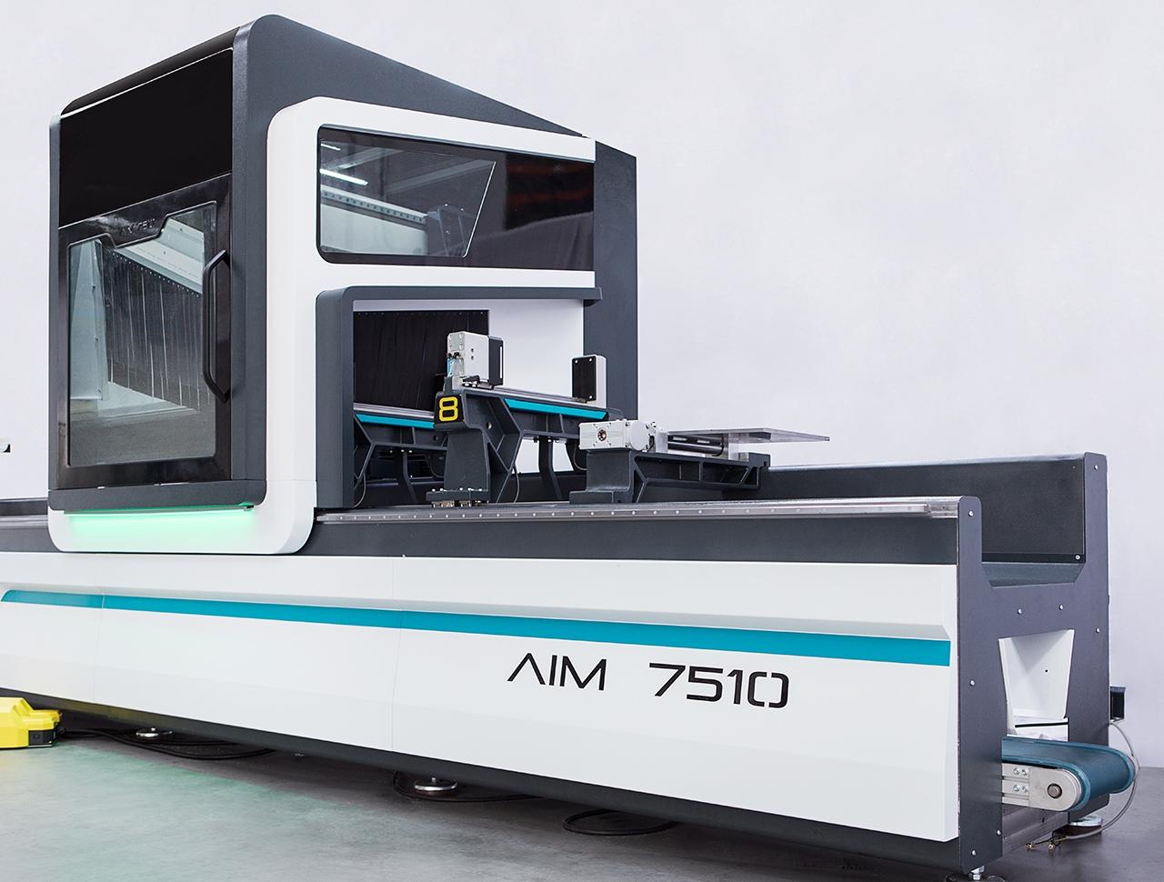 aim 7510 5 axes aluminium profile processing center cnc machine 2