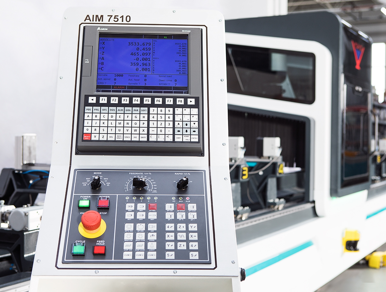 aim 7510 5 axes aluminium profile processing center cnc machine 5