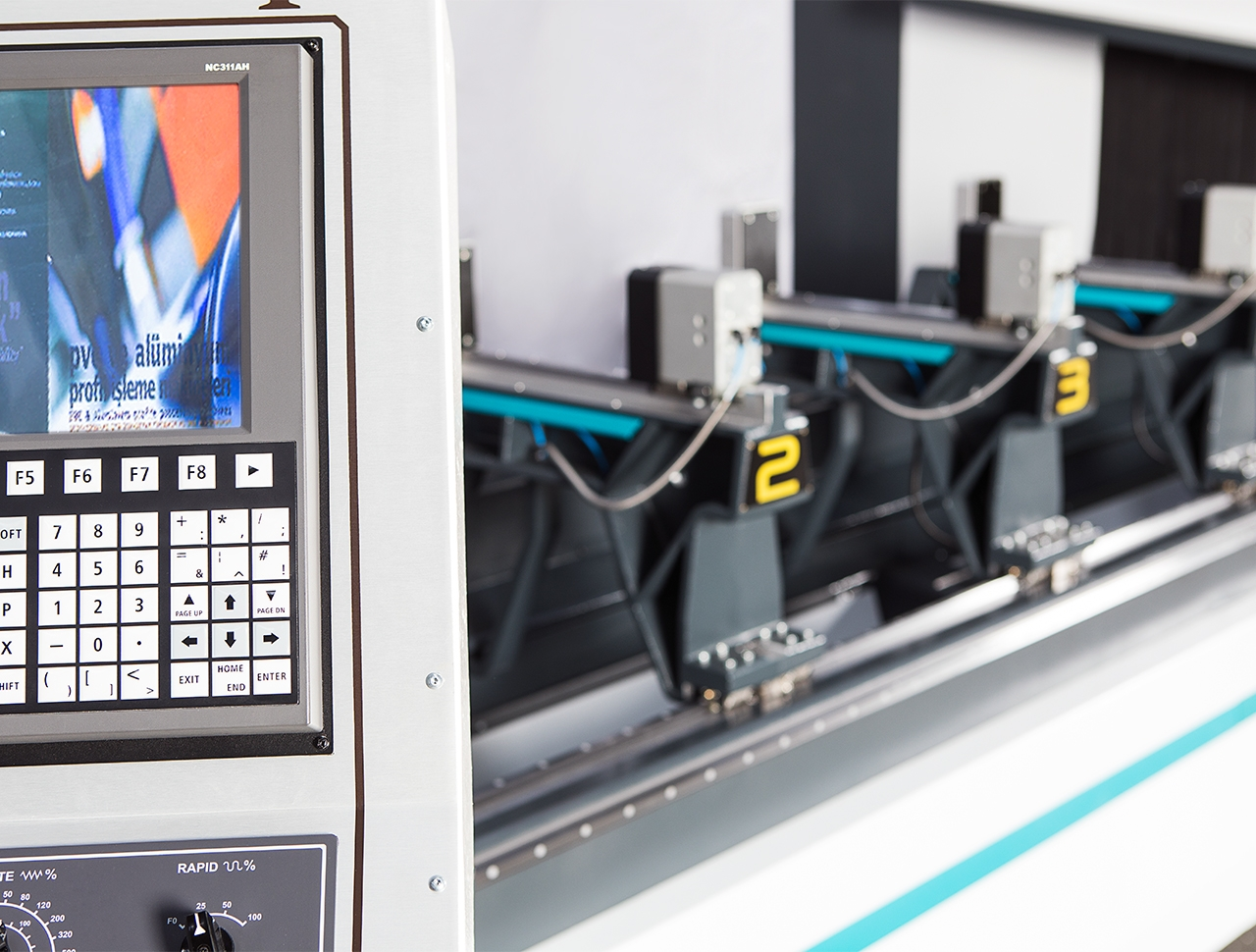 aim 7510 5 axes aluminium profile processing center cnc machine 8