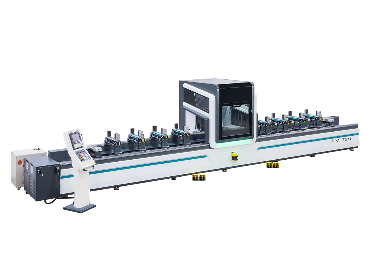aim 7510 5 axes aluminium profile processing center cnc machine