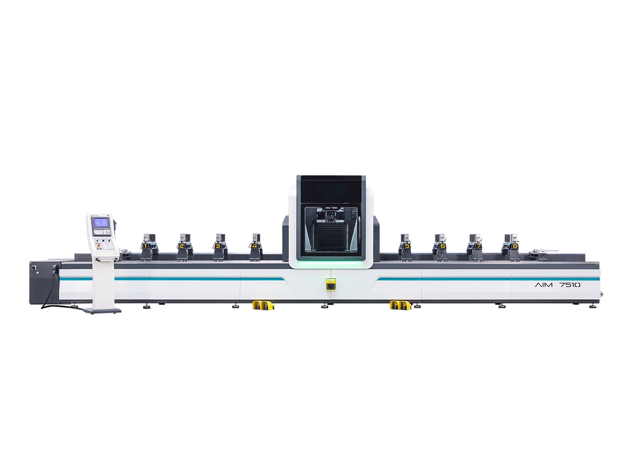 aim 7510 5 axes aluminium profile processing center cnc machinery