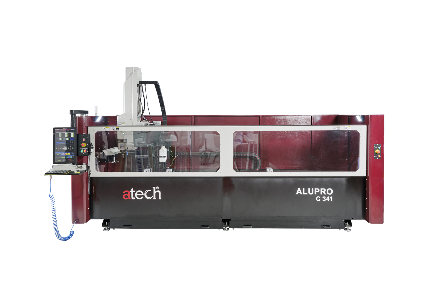 ALUPRO C341 4 AXES CNC Controlled Panel Aluminum Profile Working Mahinery (5)